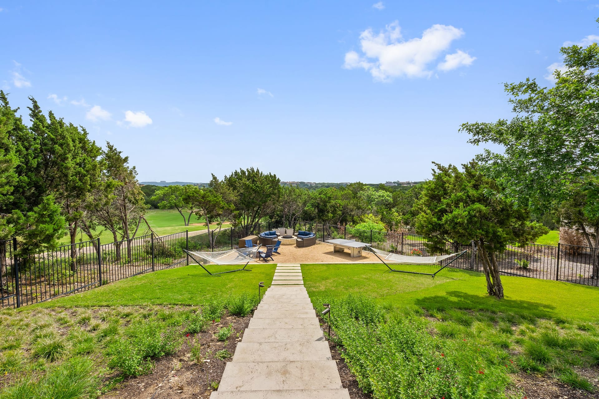 Single Story Contemporary backing to Golf Course photo