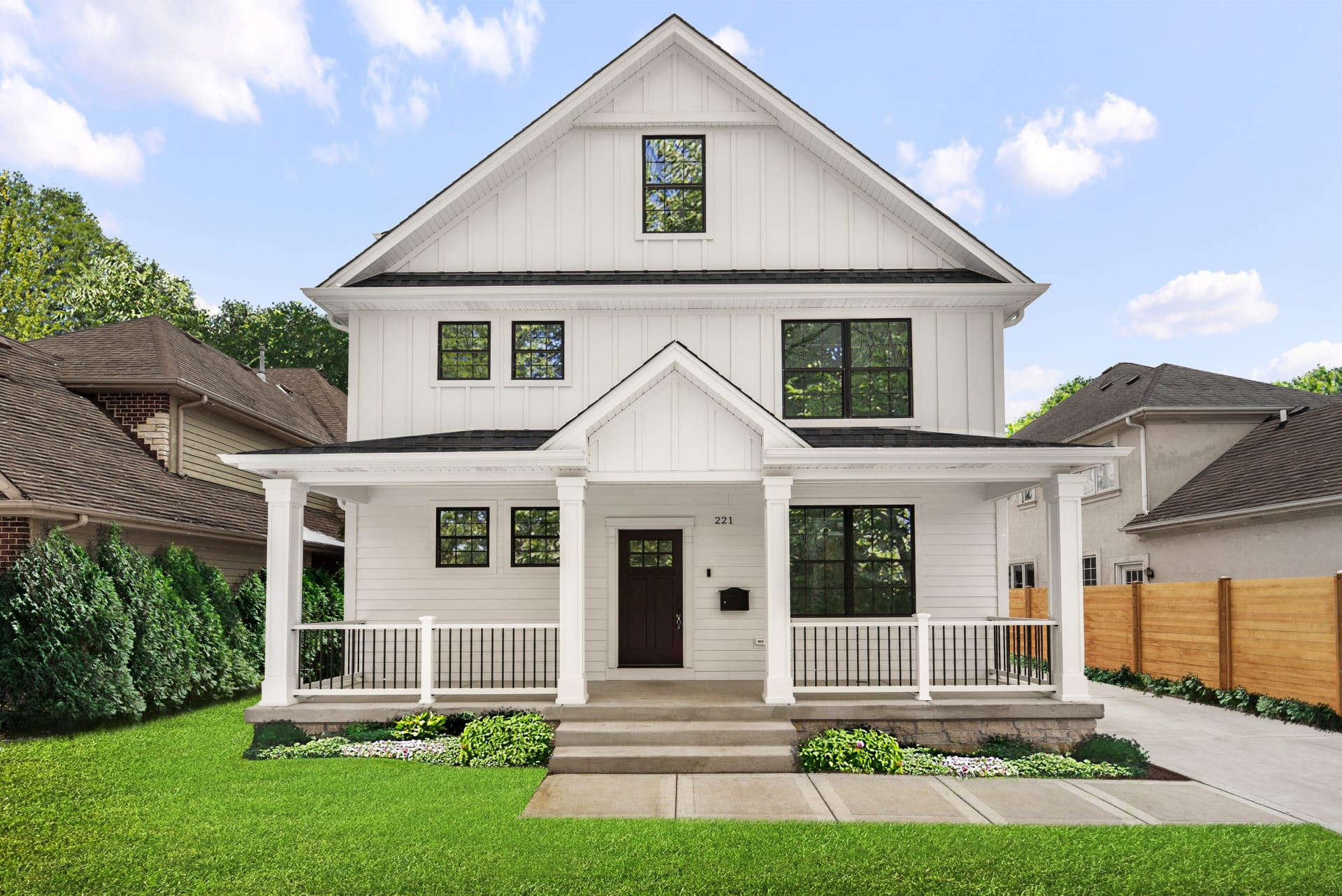 New construction home with all the bells and whistles
