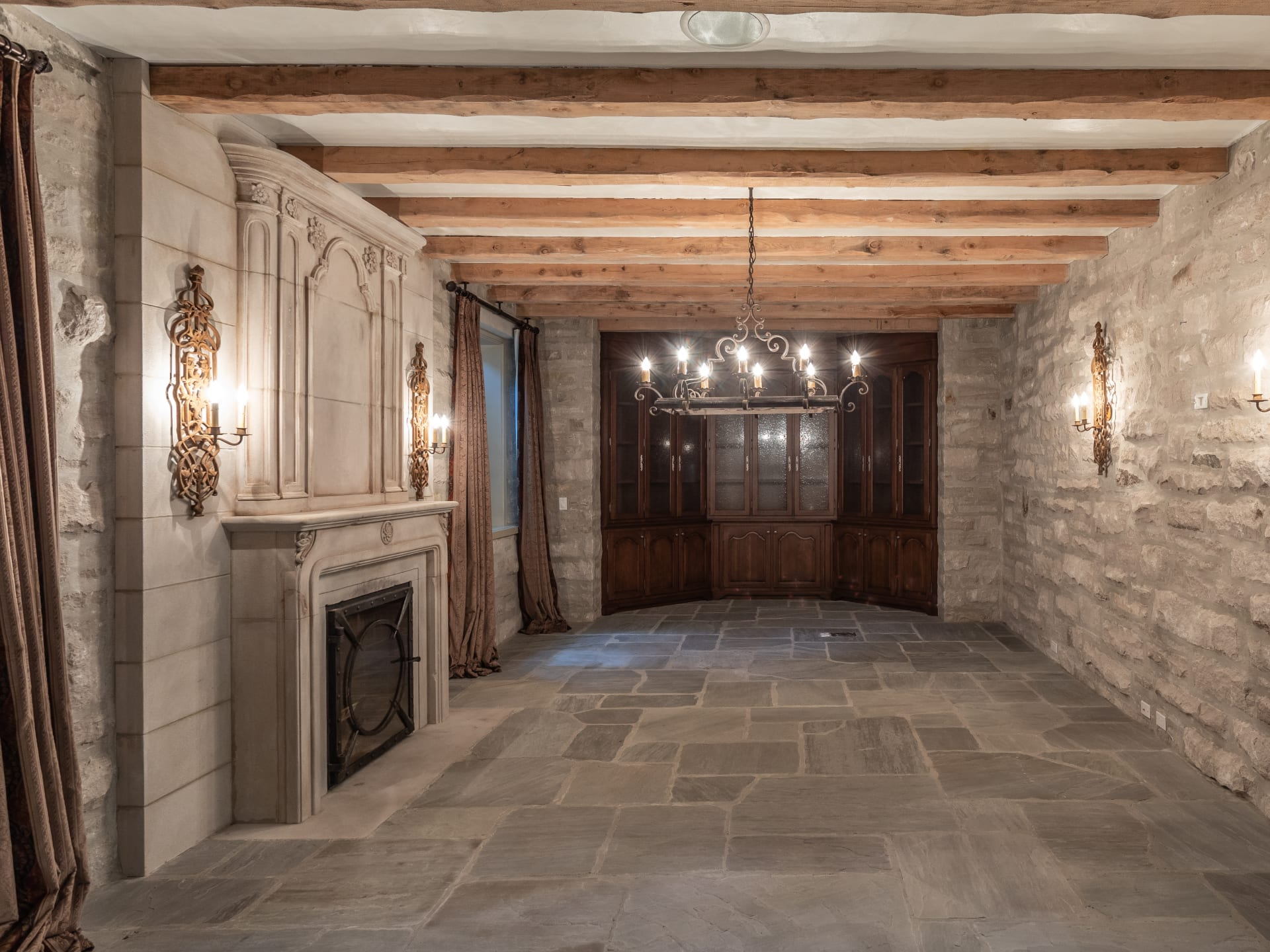 French Chateau Inspired Stone Estate