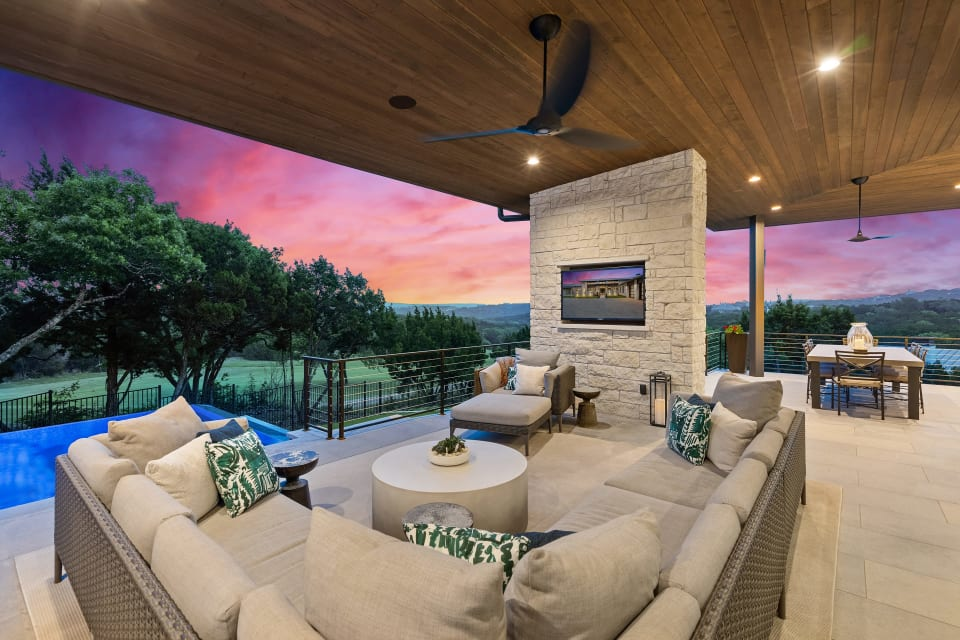Single Story Contemporary backing to Golf Course preview