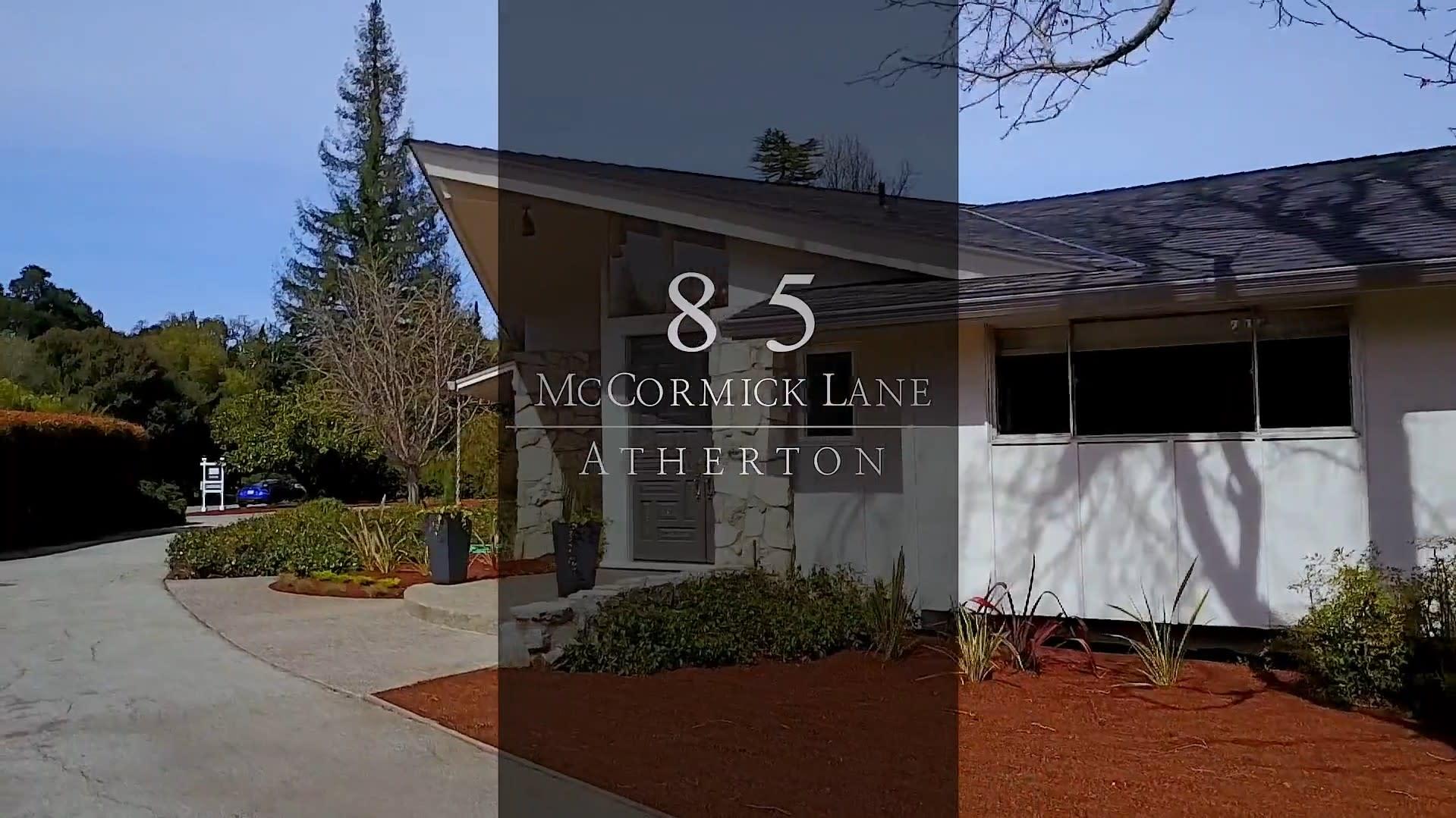 85 McCormick Lane, Atherton video preview