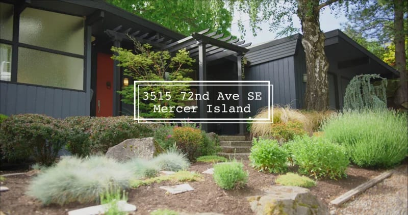 """3515 72nd Ave SE Mercer Island """"Mid-Century Modern"""" video preview"""