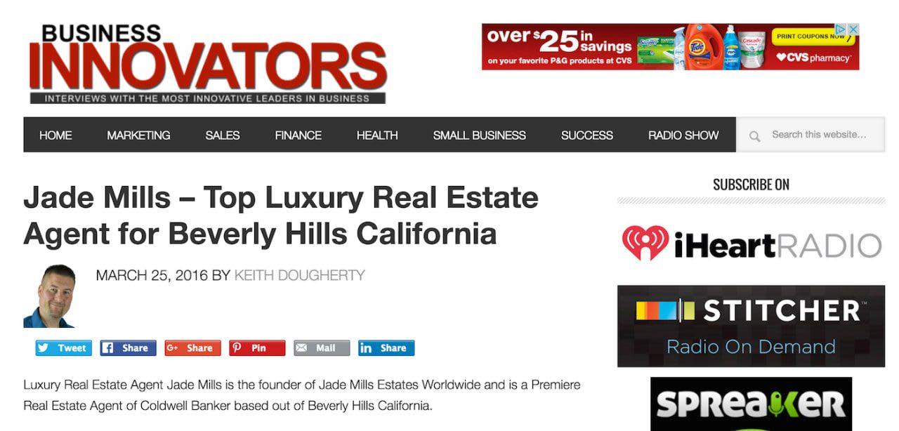 Jade Mills on Business Innovators Radio Show