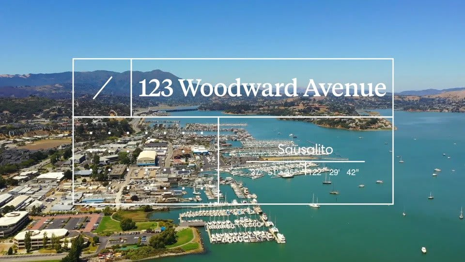 123 Woodward, Sausalito video preview