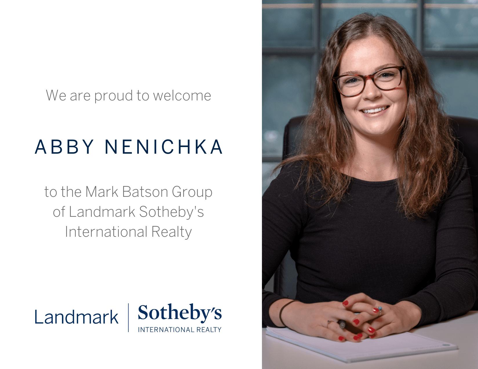 The Mark Batson Group Welcomes Abby Nenichka as Sales Associate