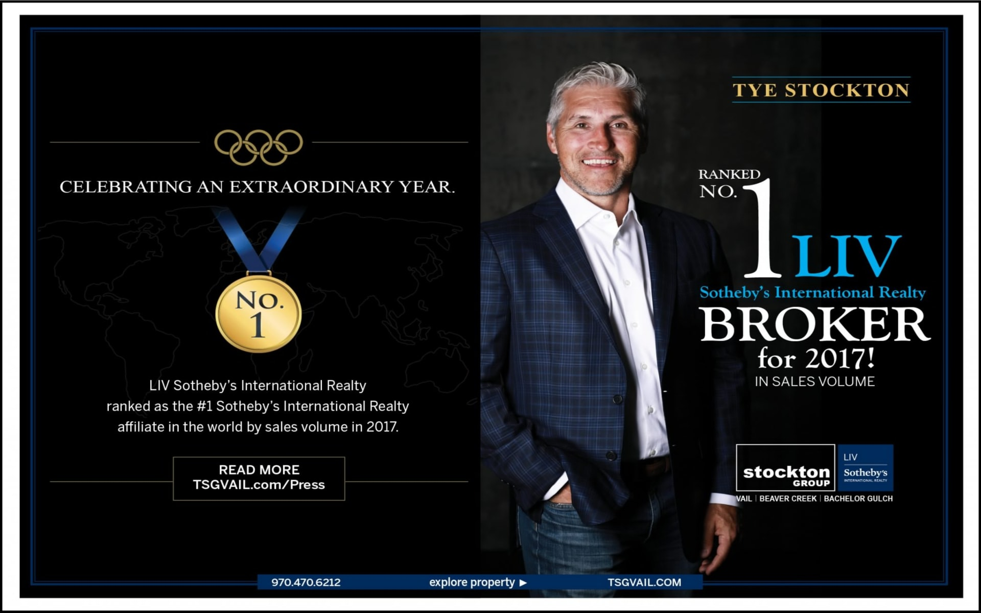 Tye Stockton Ranked #1 Liv Sotheby's International Realty Broker For 2017! In Sales Volume