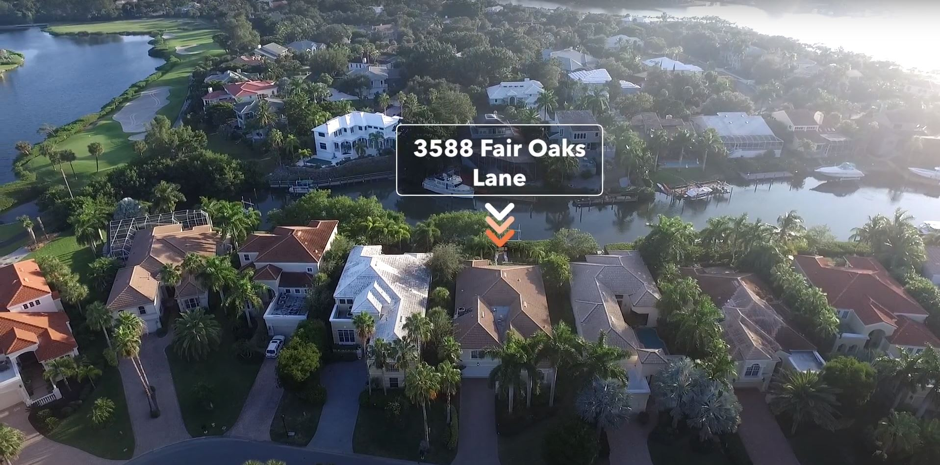 Aerial Video - Beautifully Updated Home In Queens Harbour At 3588 Fair Oaks Lane, Longboat Key video preview
