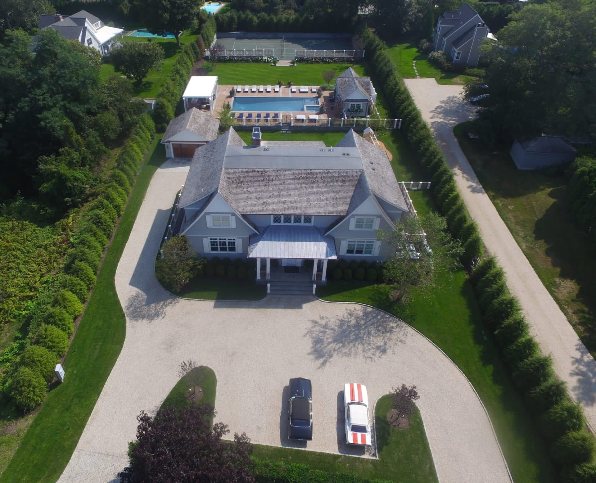 Custom Built Southampton Village Compound with Tennis