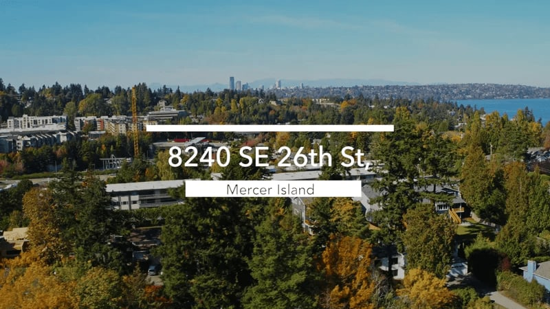 """8240 SE 26th St """"Updated, Historical Seattle-style Home"""" video preview"""