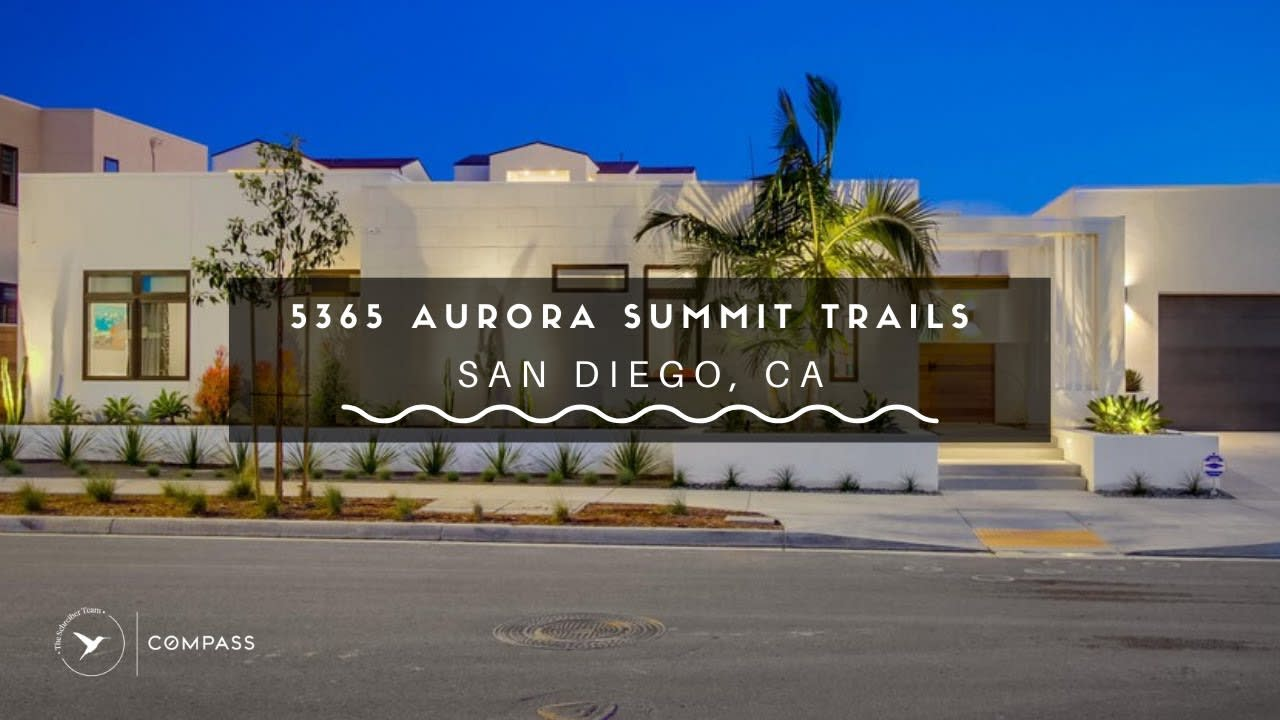 San Diego Real Estate: 5365 Aurora Summit Trails, San Diego, CA video preview