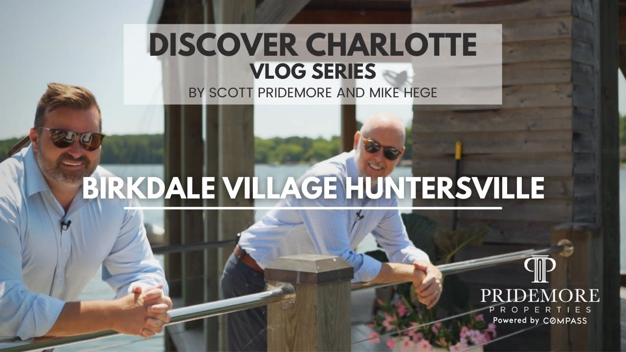 Discover Charlotte Vlog Series: 2   Birkdale Village   Huntersville   Scott and Mike video preview