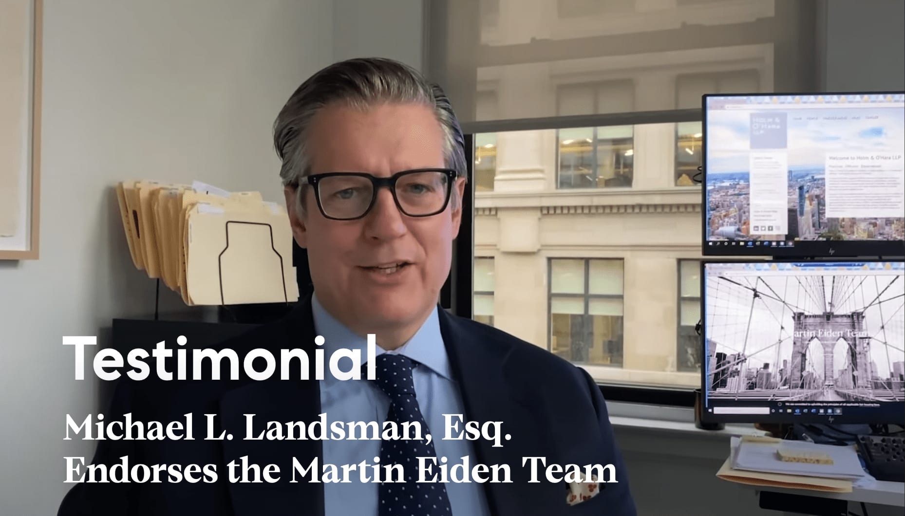 Michael L. Landsman, Esq. Endorses the Martin Eiden Team video preview