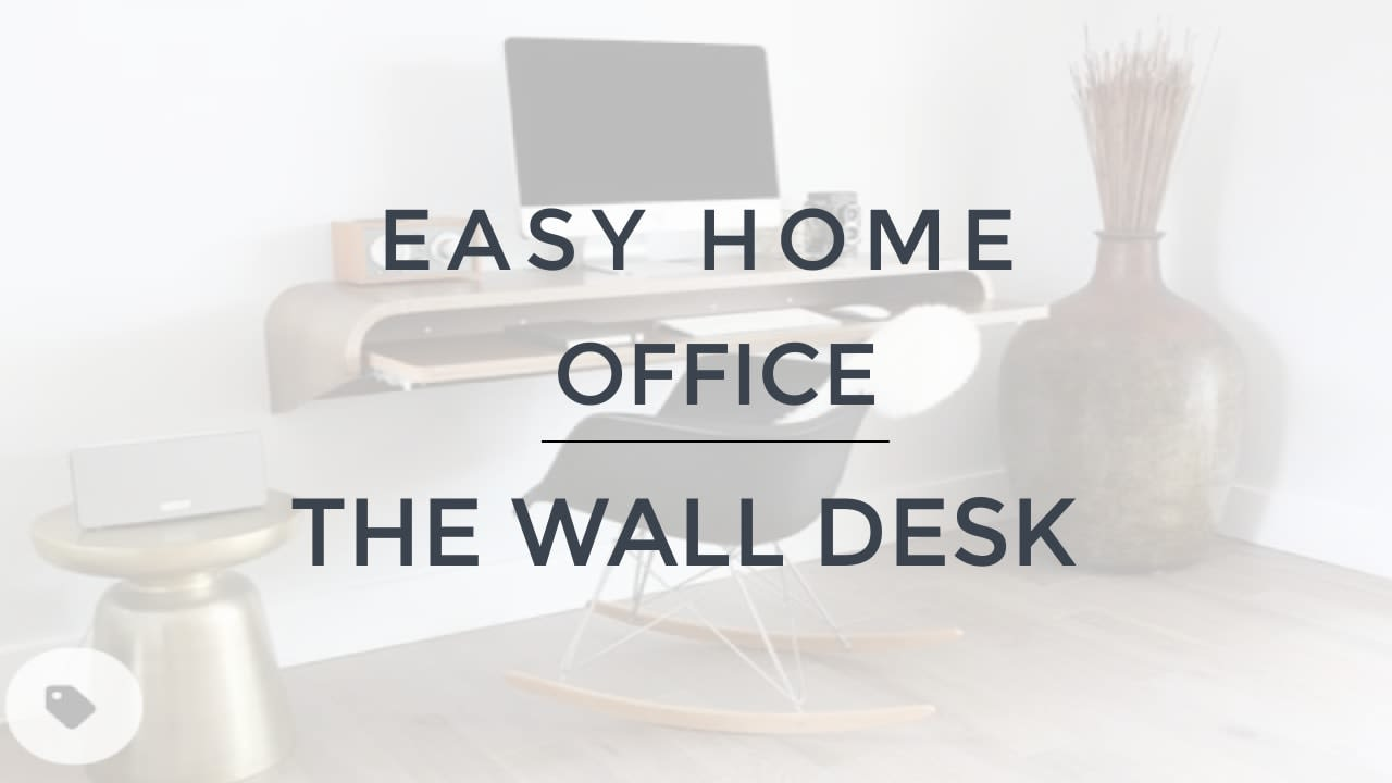 Cozy and Quick Home Office - The Wall Desk video preview