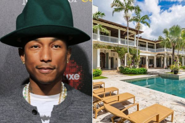 Pharrell drops $30M on Miami mansion for quarantine