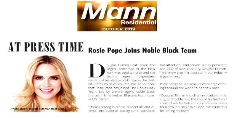 Rosie Pope joins Noble Black Team