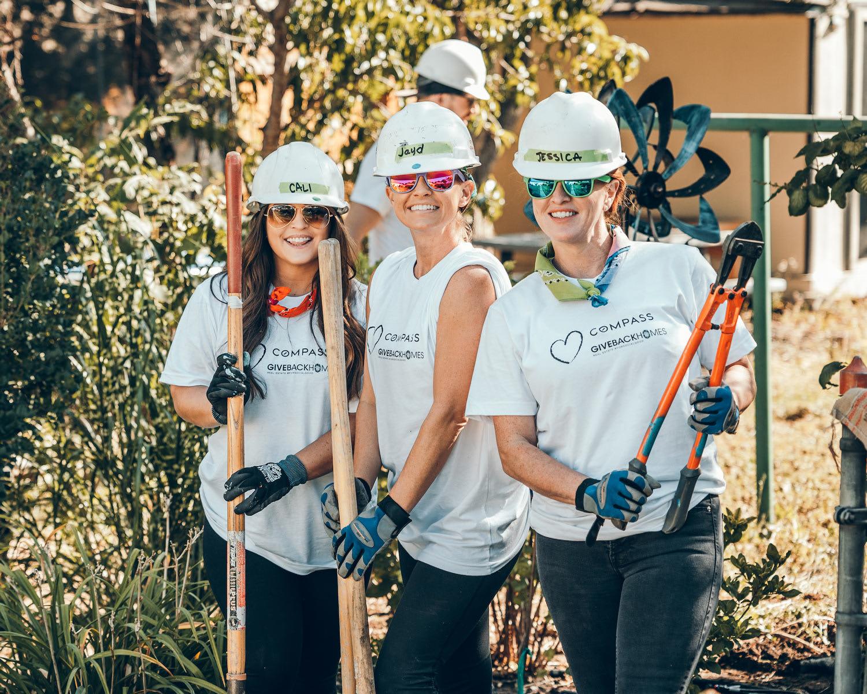 Cali Forbes, Jayd Well, Jessica Northop, Compass Giveback Homes