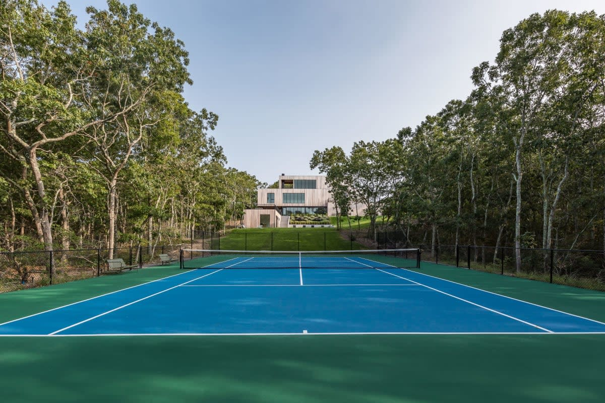 Modern New Construction with Tennis