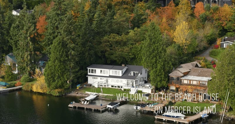 """8097 West Mercer Way """"The Beach House on Mercer Island"""" video preview"""