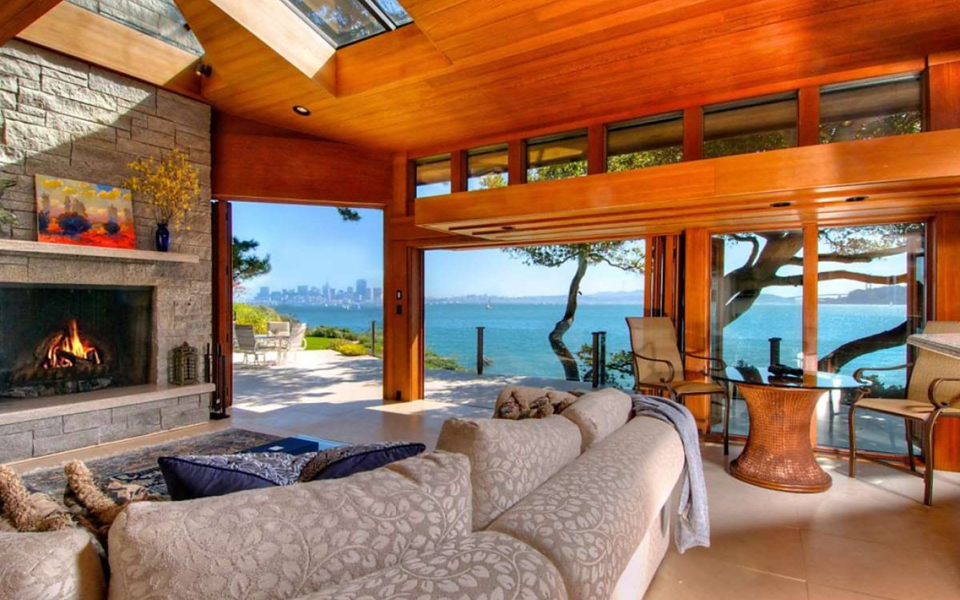Noted architect's Belvedere home offers shoreline and stunning views