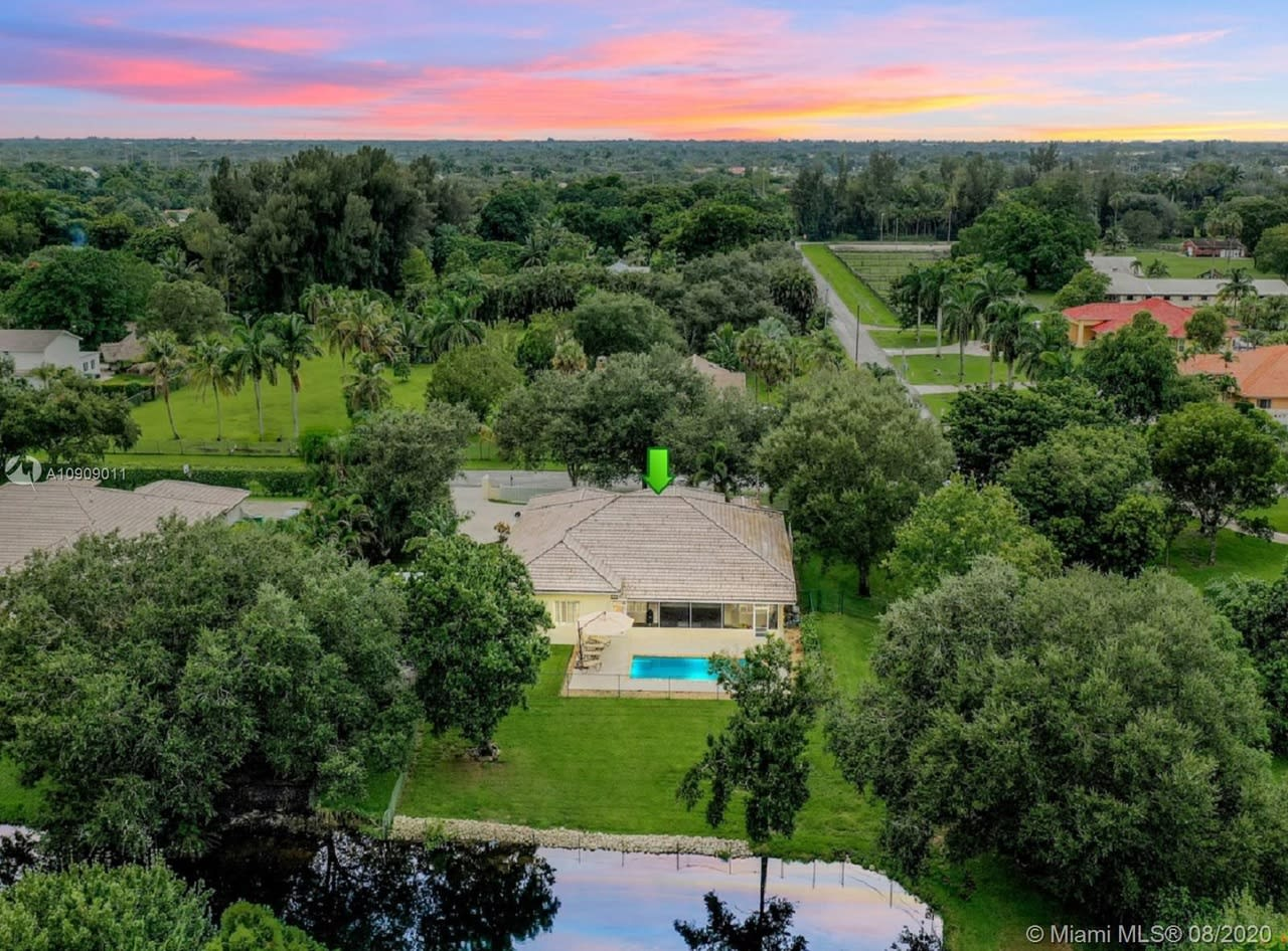 Spectacular Pool Home on a 50,275 Square Feet Waterfront Lot in Cooper City