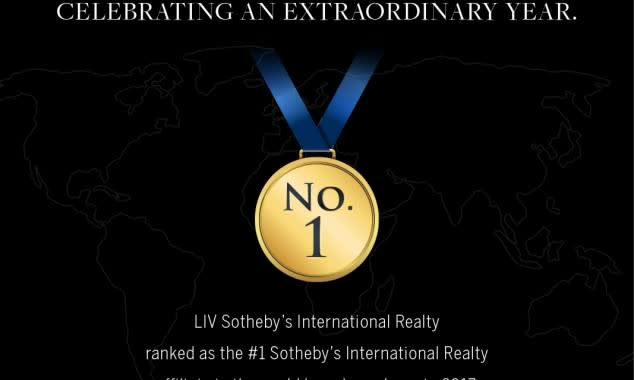 Liv Sotheby's International Realty, Ranks #1 Sotheby's International Realty Affiliate In The World