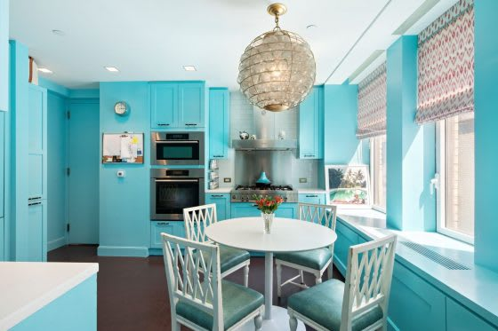 Kitchen Color   5 Homes with Colorful Kitchen Cabinetry