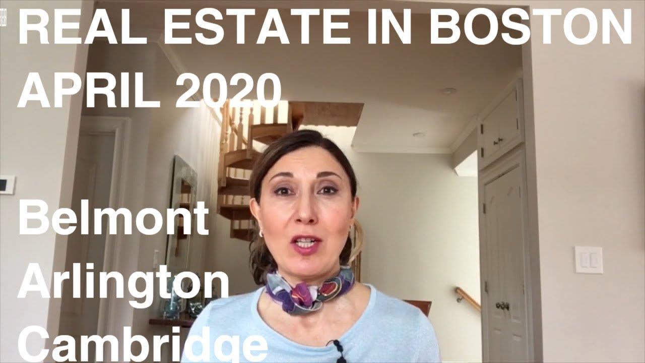 REAL ESTATE IN BOSTON, APRIL 2020- Arlington, Belmont, Cambridge video preview