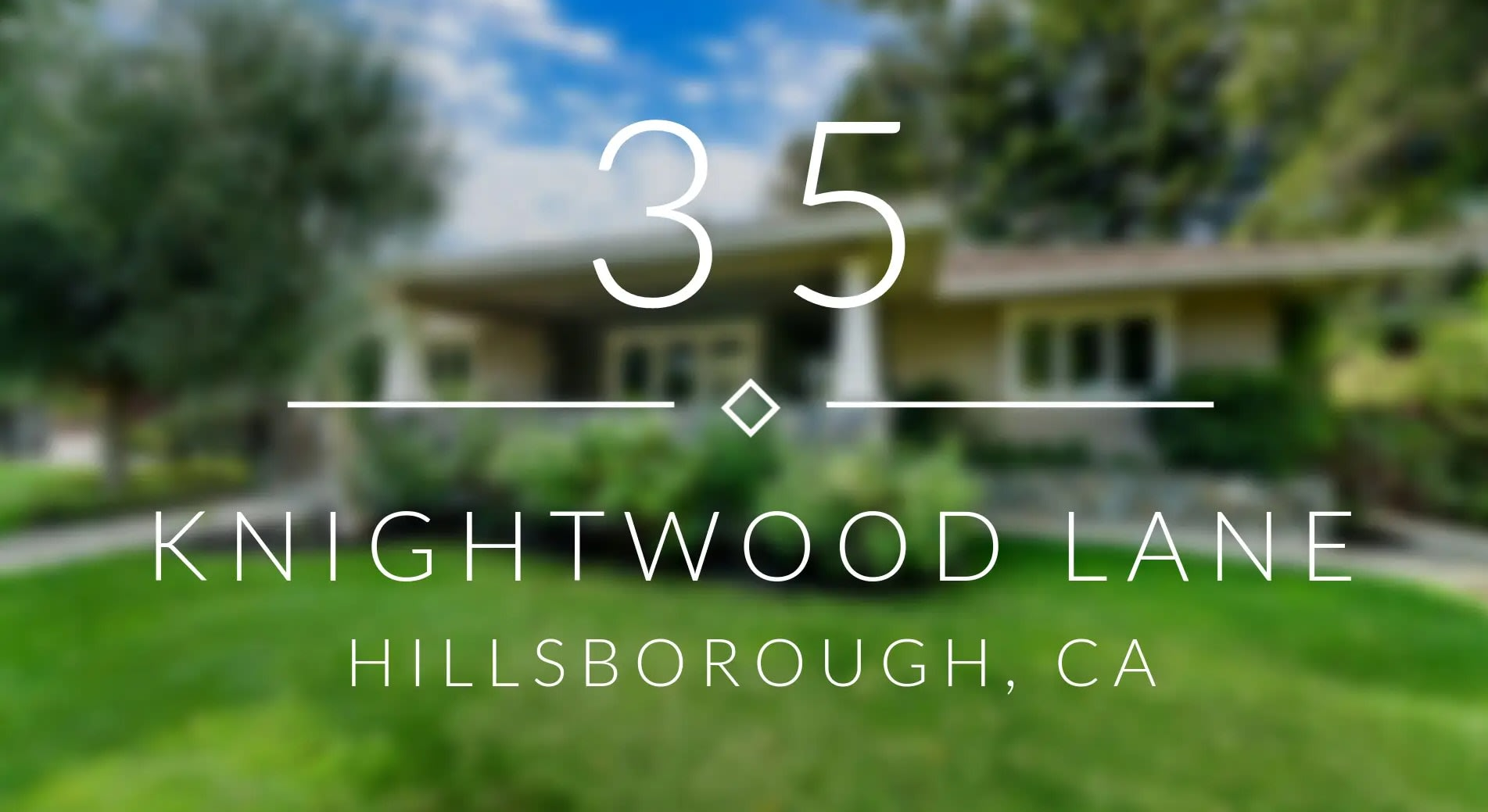 35 Knightwood Ln., Hillsborough video preview