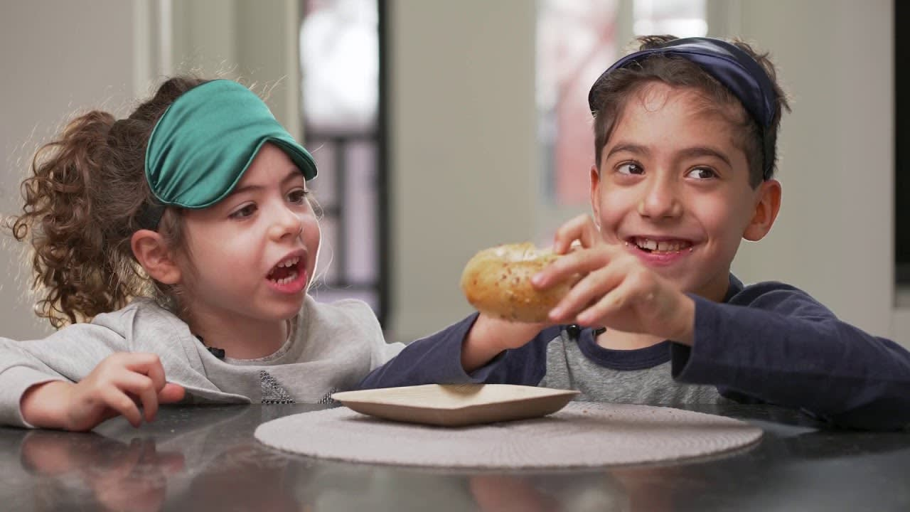 Kids Try Jewish Food While Blindfolded | What's Cooking New York? Ep. 1 video preview