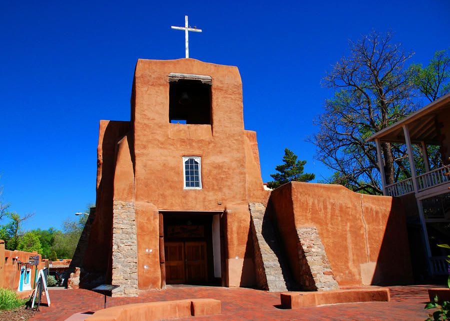 San Miquel Mission Chapel in Santa Fe, New Mexico video preview
