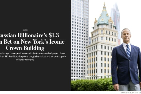 A Russian Billionaire's $1.3 Billion Bet On New York's Iconic Crown Building