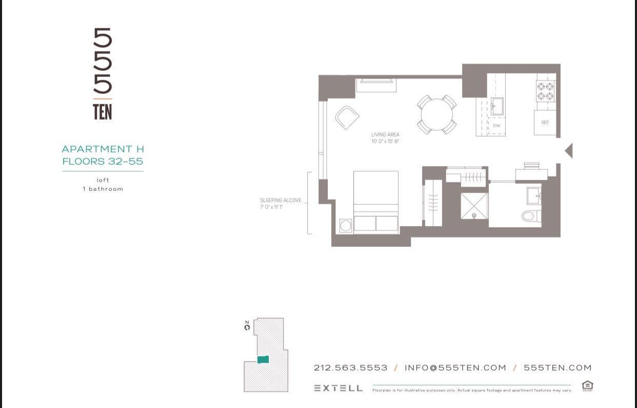 555 10th Avenue, Unit 54H