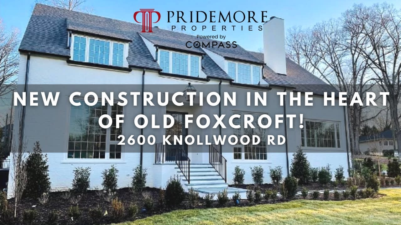 Classic New Construction In The Heart of Old Foxcroft!   2600 Knollwood Rd Old Foxcroft Charlotte NC video preview