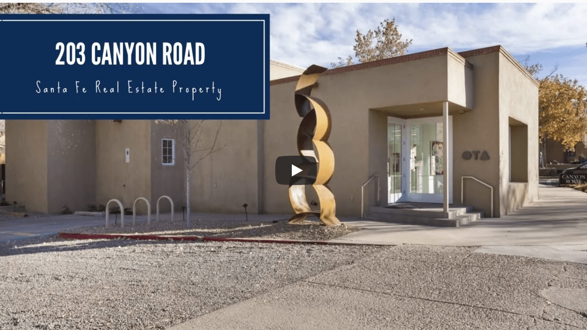 Historic Eastside Art Gallery For Sale | 203 Canyon Road video preview