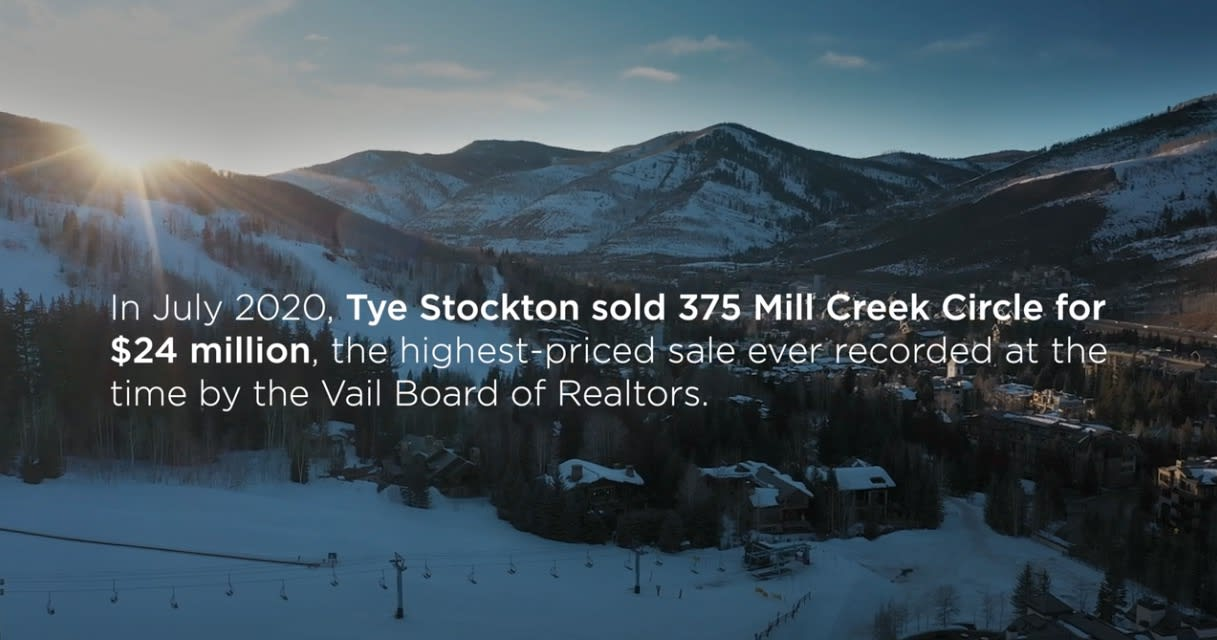 Tye Stockton's Record Breaking Sale of 375 Mill Creek Circle, Vail, Colorado 81657 video preview