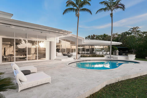 Lakefront Contemporary in a Gated Community in Coral Gables, Florida
