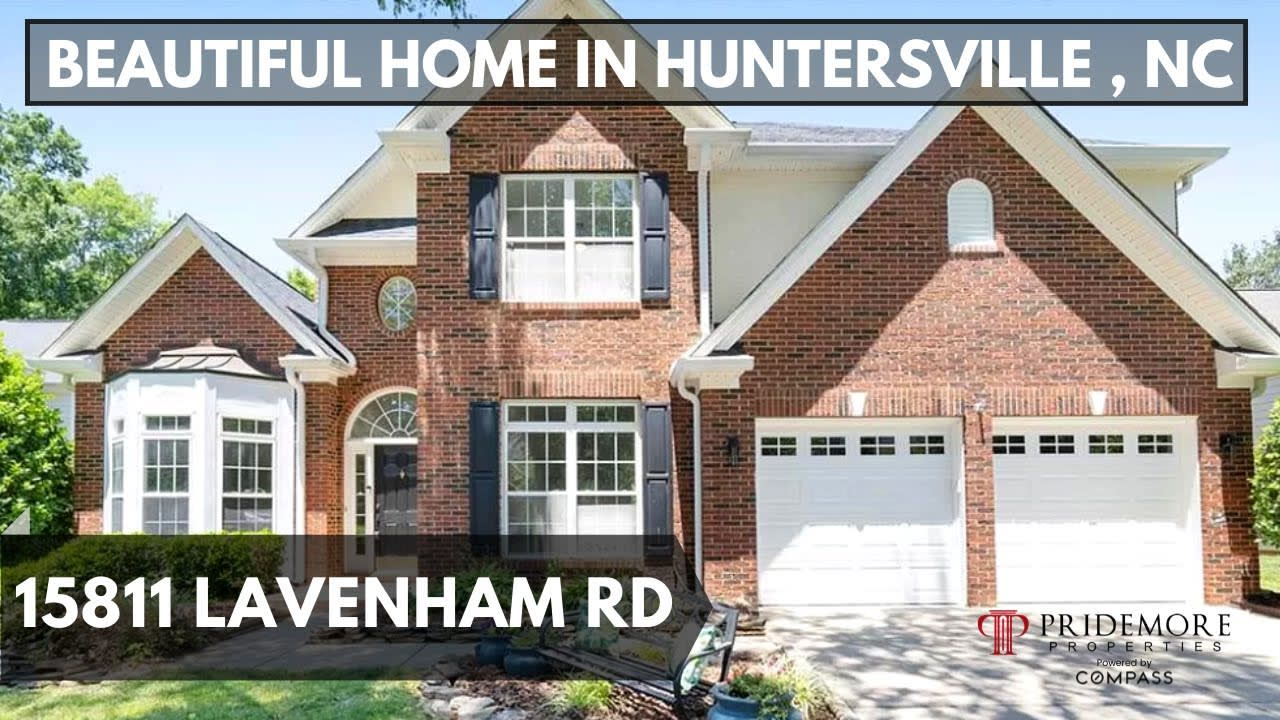 Must See - Luxury Home In Huntersville , NC   Northstone Real Estate House Tour   North Carolina video preview