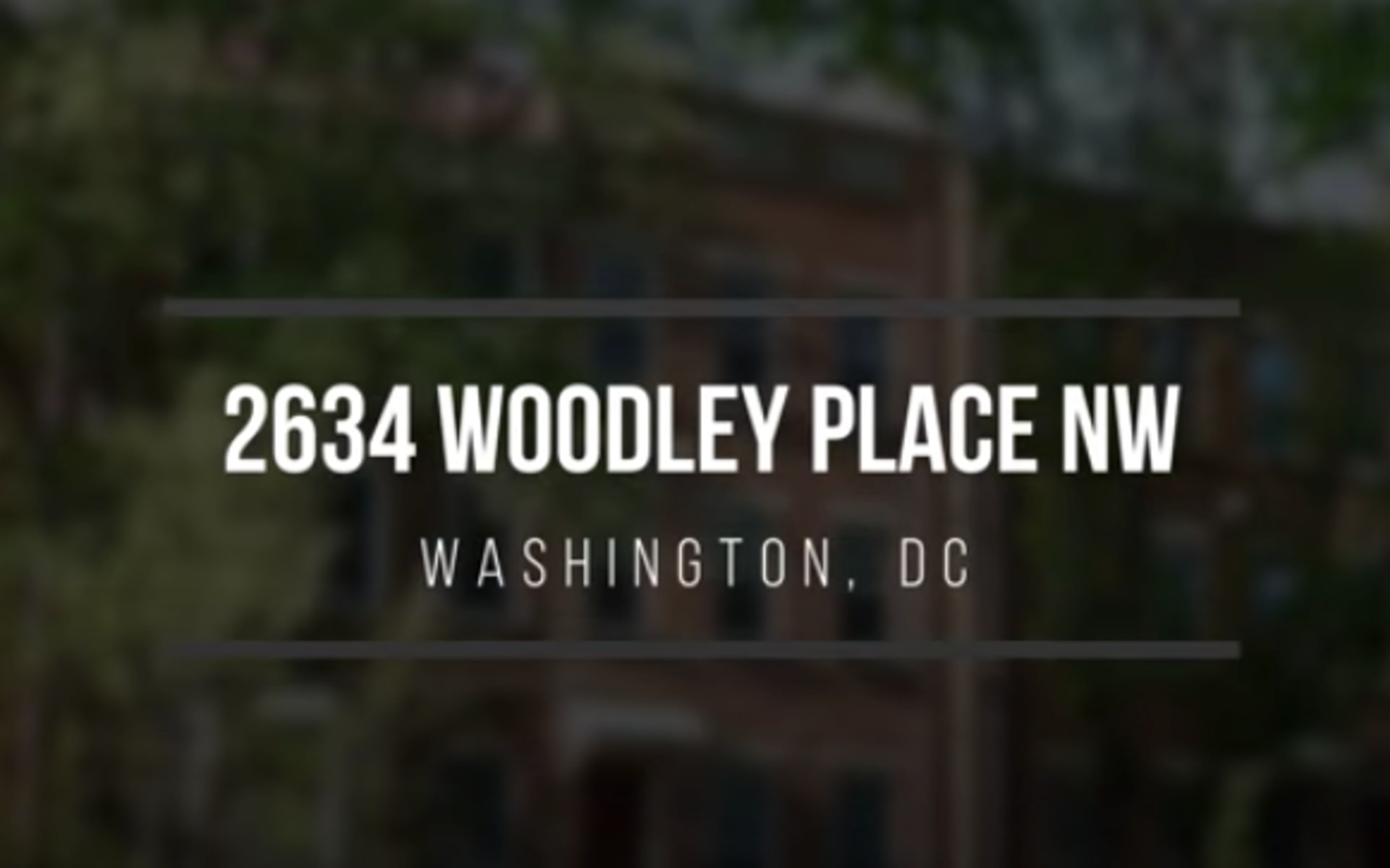 2634 Woodley Place NW video preview