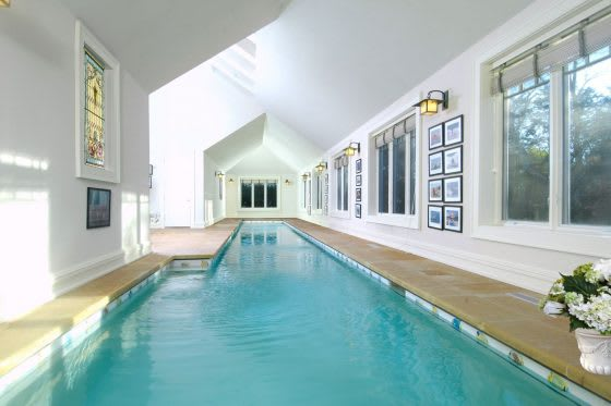 """""""Come on in, the Water's Fine""""   Five Stylish Indoor Swimming Pools"""