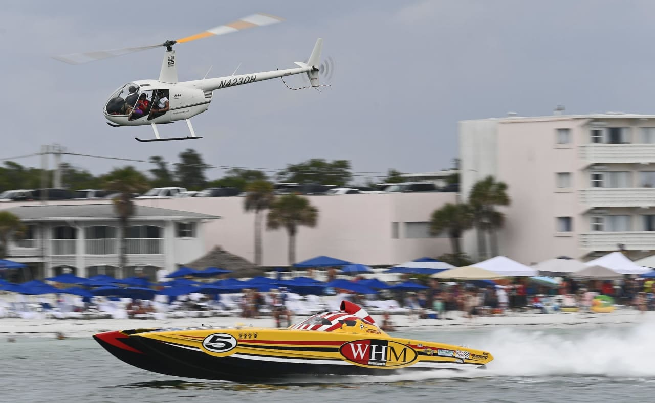 The Sarasota Powerboat Grand Prix Festival is a week-long surrounding the Fourth of July.