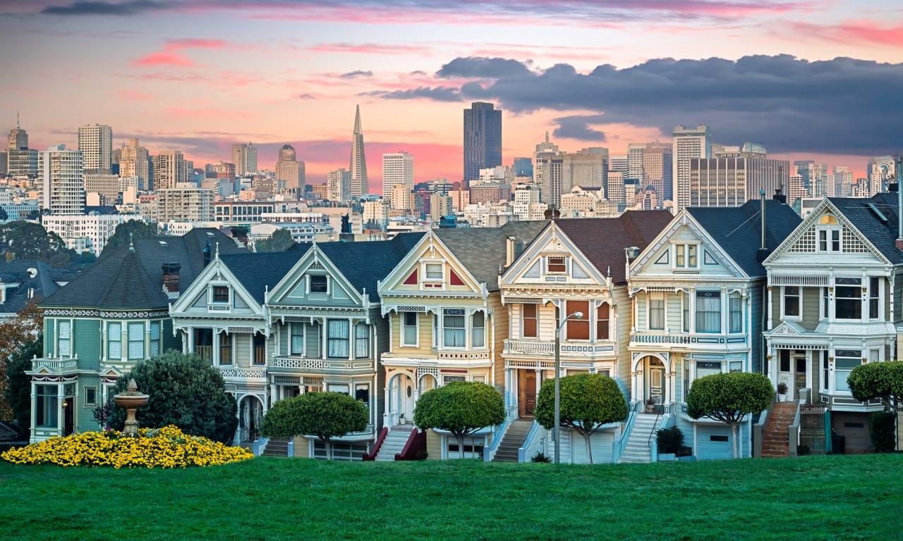 San Francisco's famous Victorians