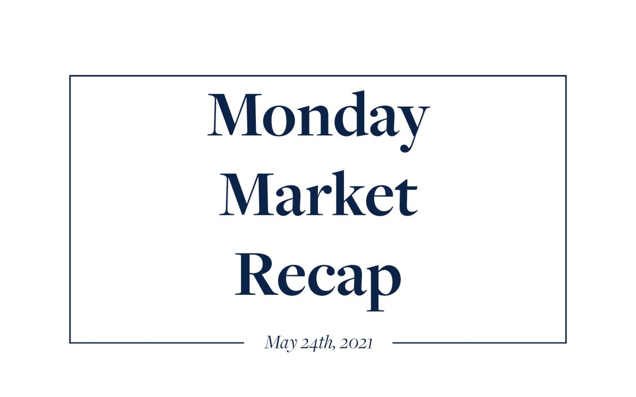 Monday Market Recap