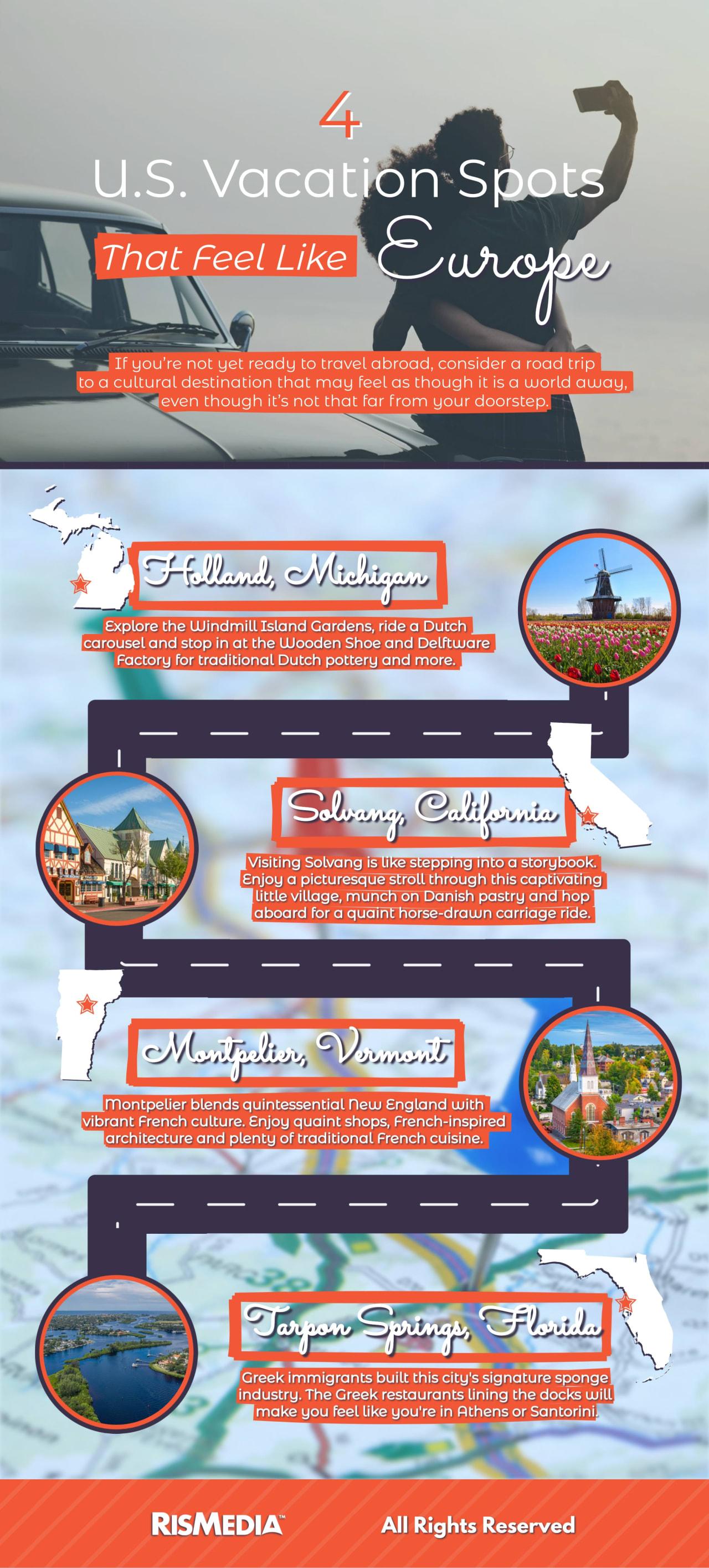 4 U.S. Vacation Spots That Feel Like Europe!