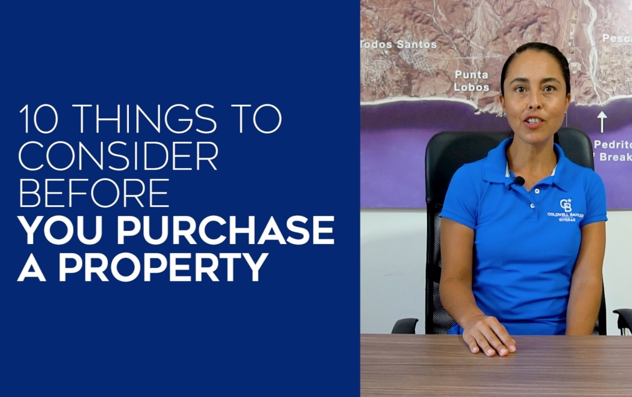 10 things to consider before you purchase a property.