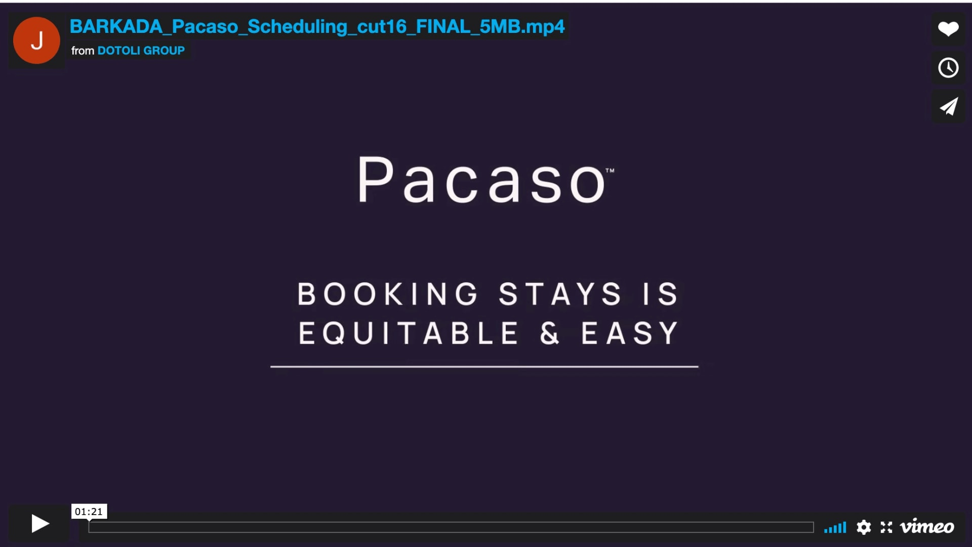 Easy, equitable scheduling video preview