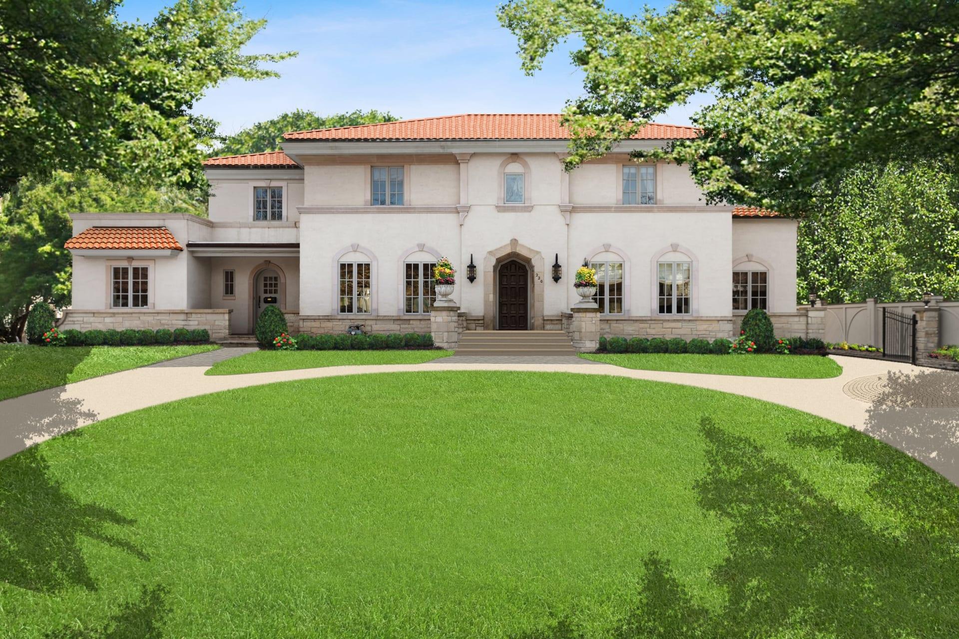 Reminiscent of an Italian villa