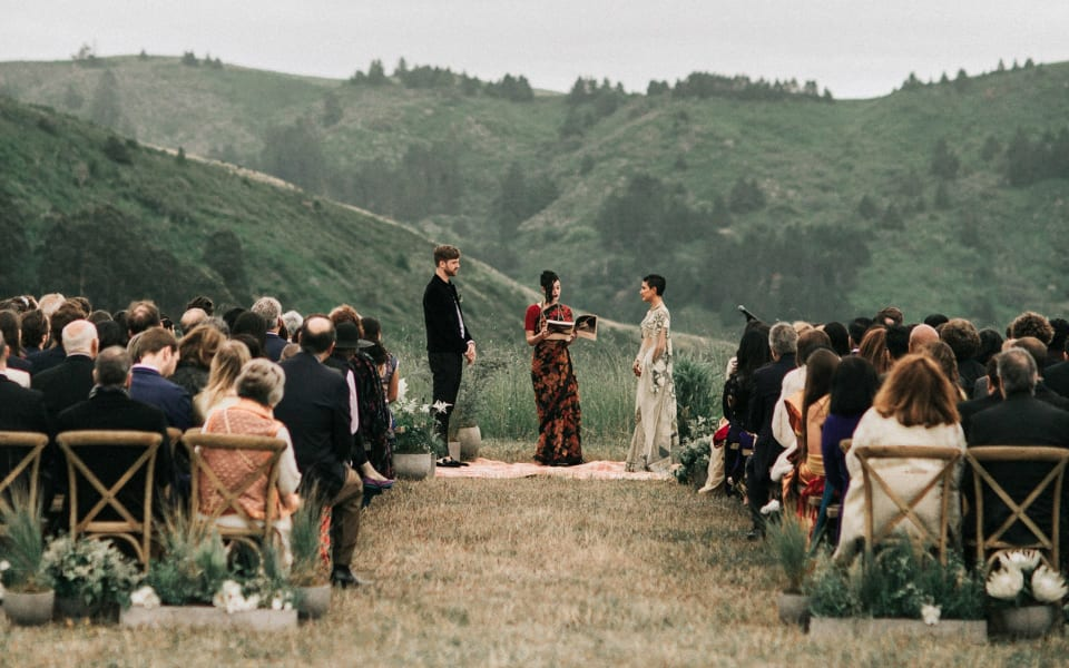 Over 100 Guests Camped Out for This Couple's Wedding Weekend in California cover