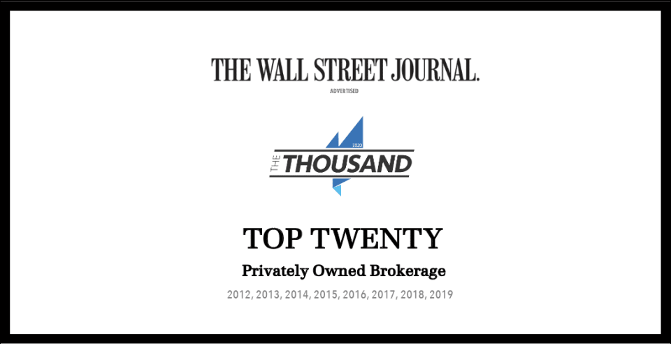 Valia Properties Recognized by the Wall Street Journal as a Top Twenty Privately Owned Brokerage in the Nation