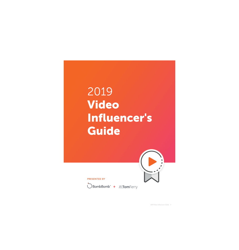 BombBomb Real Estate Video Influencers Hall of Fame 2019
