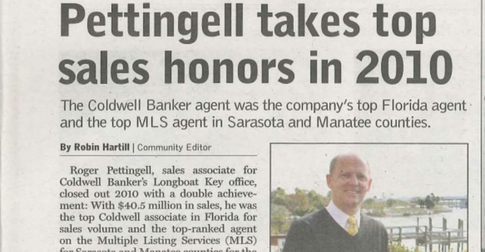 Pettingell takes top sales honors in 2010